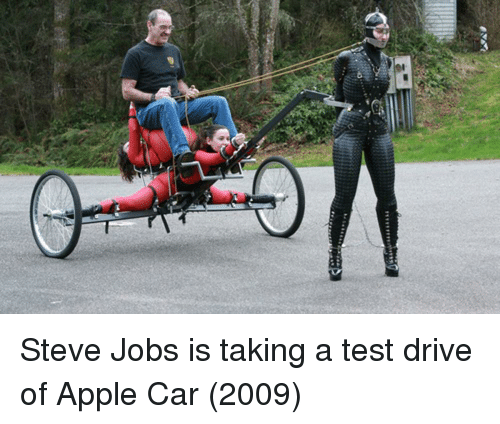 Steve Jobs: Steve Jobs is taking a test drive of Apple Car (2009)