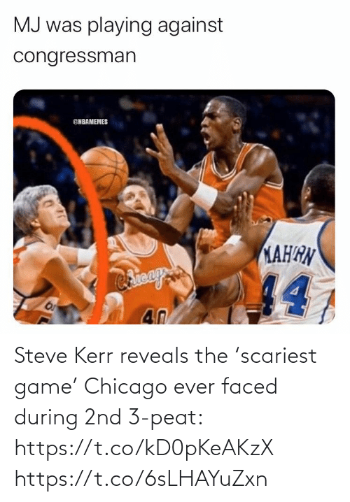 Chicago: Steve Kerr reveals the 'scariest game' Chicago ever faced during 2nd 3-peat: https://t.co/kD0pKeAKzX https://t.co/6sLHAYuZxn