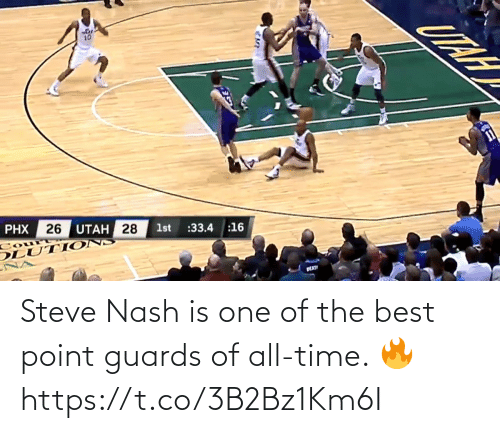 one of the best: Steve Nash is one of the best point guards of all-time. 🔥 https://t.co/3B2Bz1Km6I