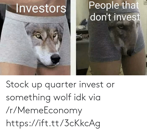 idk: Stock up quarter invest or something wolf idk via /r/MemeEconomy https://ift.tt/3cKkcAg