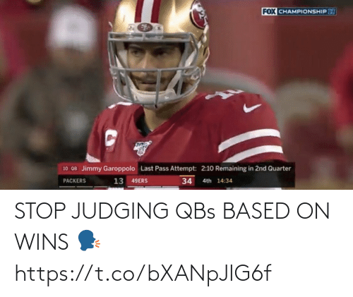 stop: STOP JUDGING QBs BASED ON WINS 🗣 https://t.co/bXANpJIG6f