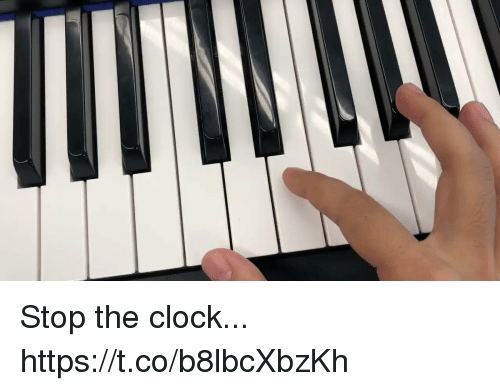 Clock, Memes, and 🤖: Stop the clock... https://t.co/b8lbcXbzKh