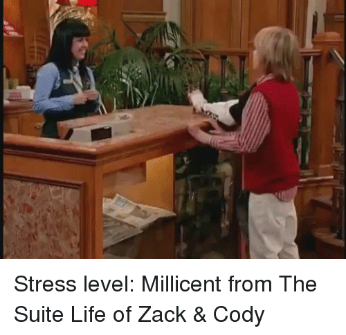 Funny, Suits, and The Suite Life of Zack & Cody: Stress level: Millicent from The Suite Life of Zack & Cody