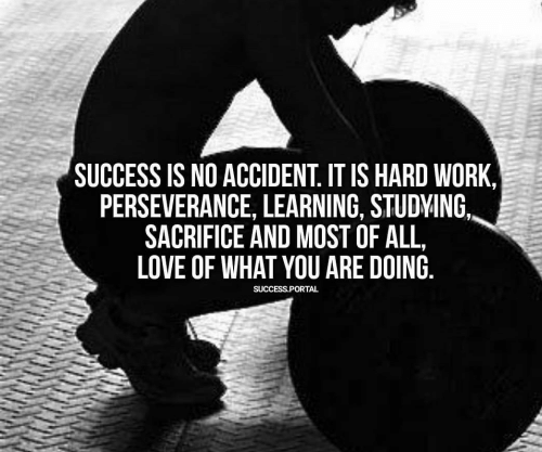 Perseverance: SUCCESS IS NO ACCIDENT. IT IS HARD WORK,  PERSEVERANCE, LEARNING, STUDVING  SACRIFICE AND MOST OFALL,  LOVE OF WHAT YOU ARE DOING  SUCCESS.PORTAL