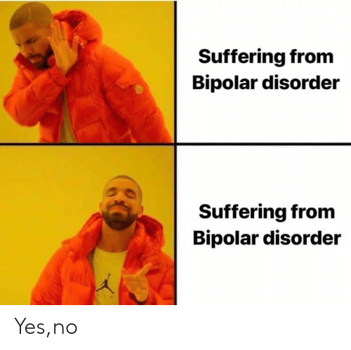 Bipolar: Suffering from  Bipolar disorder  Suffering from  Bipolar disorder Yes,no