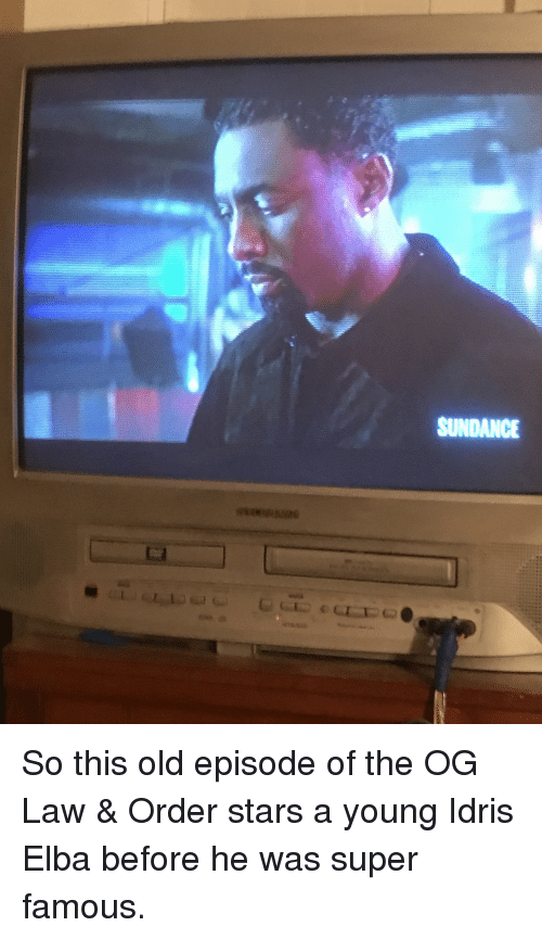 Idris Elba, Stars, and Old: SUNDANCE <p>So this old episode of the OG Law &amp; Order stars a young Idris Elba before he was super famous.</p>