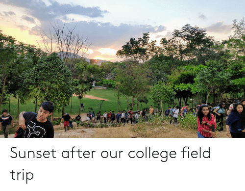Field Trip: Sunset after our college field trip