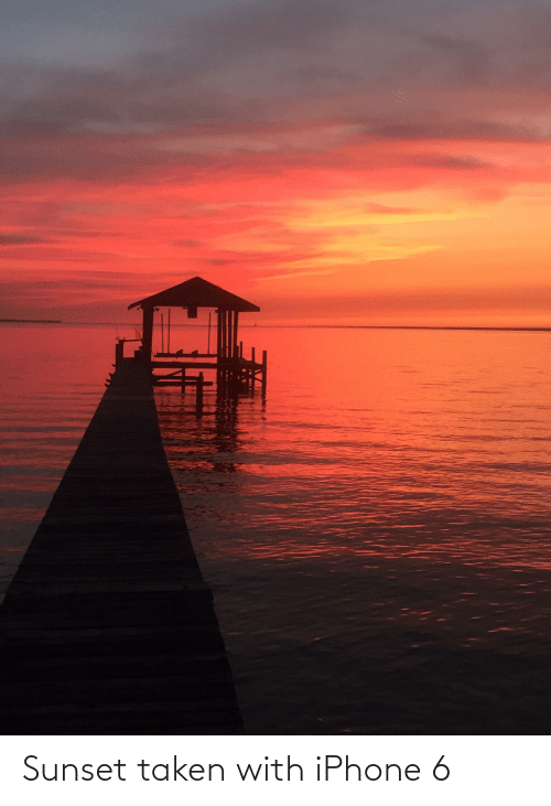 Iphone 6: Sunset taken with iPhone 6