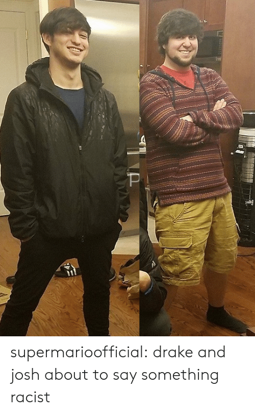 Drake, Tumblr, and Blog: supermarioofficial: drake and josh about to say something racist