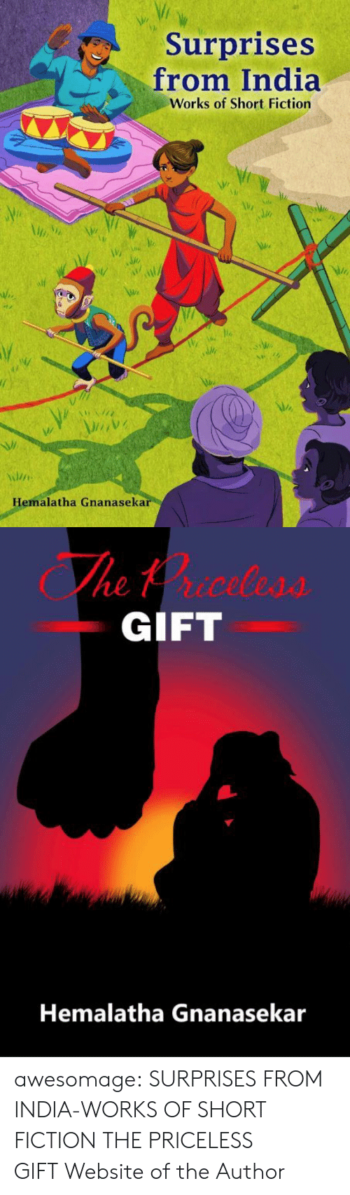 Surprises: Surprises  from India  Works of Short Fiction  Hemalatha Gnanasekar   The trceless  GIFT  Hemalatha Gnanasekar awesomage:  SURPRISES FROM INDIA-WORKS OF SHORT FICTION THE PRICELESS GIFT Website of the Author