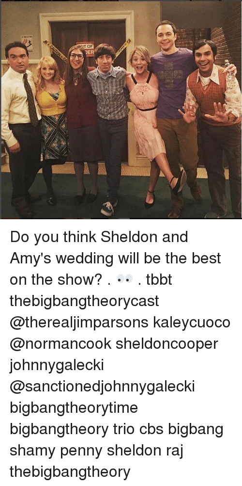 Memes, Cbs, and Best: T OF  DE Do you think Sheldon and Amy's wedding will be the best on the show? . 👀 . tbbt thebigbangtheorycast @therealjimparsons kaleycuoco @normancook sheldoncooper johnnygalecki @sanctionedjohnnygalecki bigbangtheorytime bigbangtheory trio cbs bigbang shamy penny sheldon raj thebigbangtheory