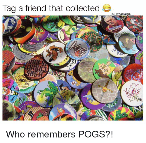 pogs: Tag a friend that collected !e. @  IG: @nostalgia Who remembers POGS?!