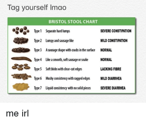 Modified Bristol Stool Chart Type 8 Is An Addition