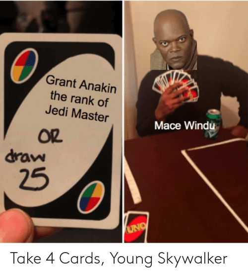 Young: Take 4 Cards, Young Skywalker