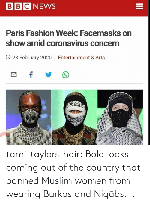 Bold: tami-taylors-hair: Bold looks coming out of the country that banned Muslim women from wearing Burkas and   Niqābs.   .