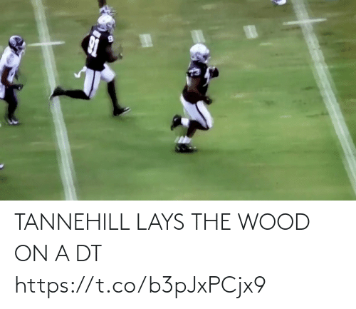 Lay's: TANNEHILL LAYS THE WOOD ON A DT https://t.co/b3pJxPCjx9