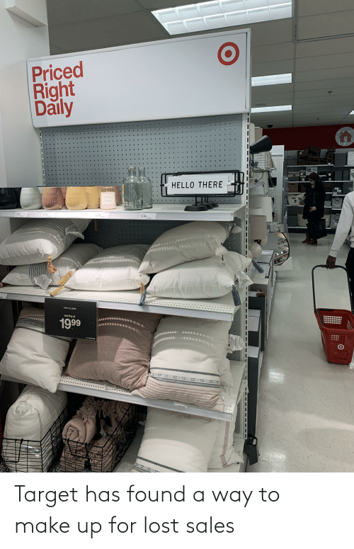 make up: Target has found a way to make up for lost sales