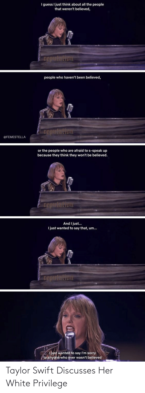 playing: Taylor Swift Discusses Her White Privilege