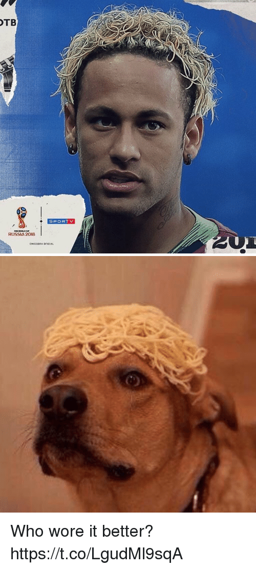 Soccer, Who Wore It Better, and Russia: TB  SPORTV  RUSSIA 2018  EMISSORA OFICIAL Who wore it better? https://t.co/LgudMl9sqA