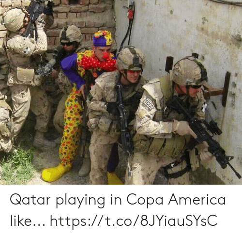 America, Memes, and Copa America: TCCC Qatar playing in Copa America like... https://t.co/8JYiauSYsC