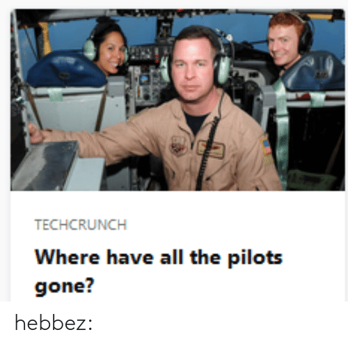 Pilots: TECHCRUNCH  Where have all the pilots  gone? hebbez: