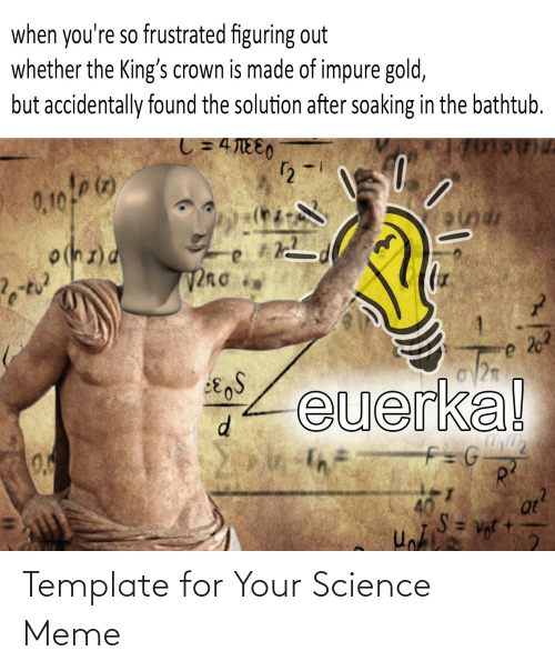 Science Meme: Template for Your Science Meme