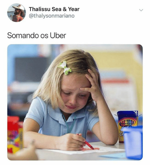 Uber, Pt-Br (Brazilian Portuguese), and International: Thalissu Sea & Year  @thalysonmariano  Somando os Uber