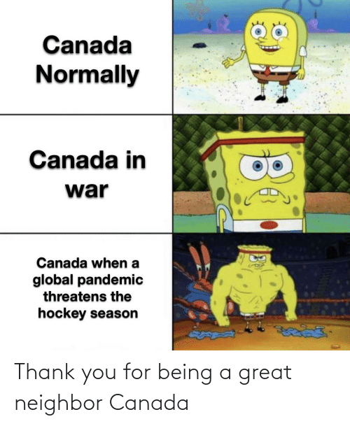 Canada: Thank you for being a great neighbor Canada