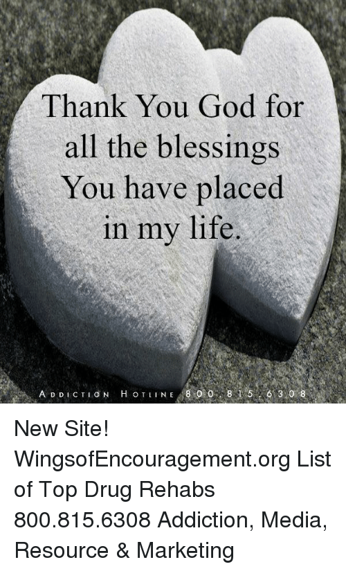 Thank You God For All The Blessings You Have Placed In My Life