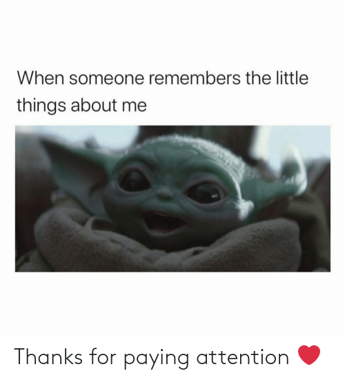 thanks: Thanks for paying attention ❤️