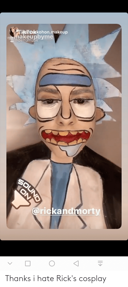 Cosplay: Thanks i hate Rick's cosplay