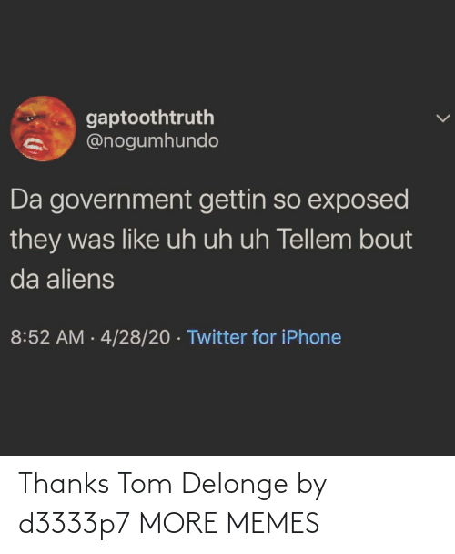 tom: Thanks Tom Delonge by d3333p7 MORE MEMES