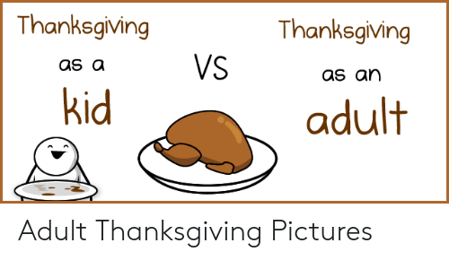Thanksgiving, Pictures, and Adult: Thanksgiving  Thanksgiving  VS  as a  as an  kid  adult Adult Thanksgiving Pictures