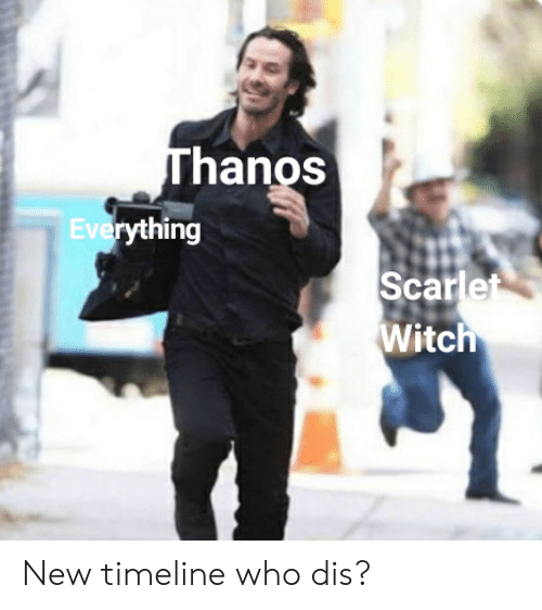 Thanos Everything Scarlet Witch New Timeline Who Dis? | Reddit Meme