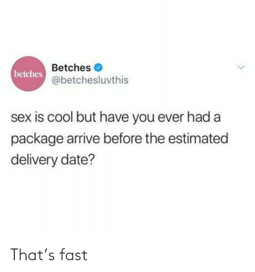 fast: That's fast