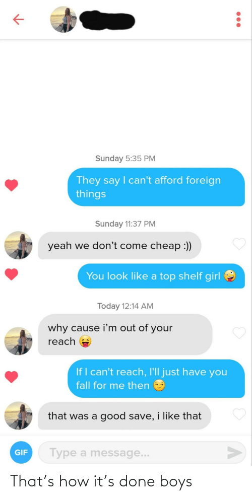 done: That's how it's done boys