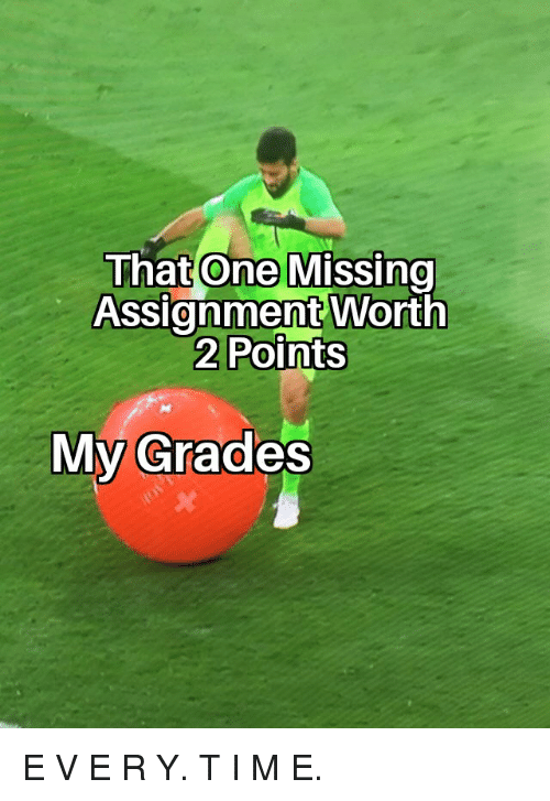Reddit, One, and Grades: That One Missino  Assignment Worth  2 Points  My Grades