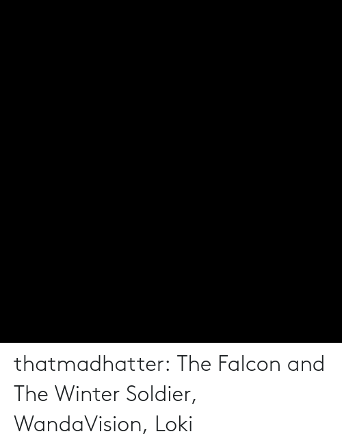 Winter: thatmadhatter:  The Falcon and The Winter Soldier, WandaVision, Loki
