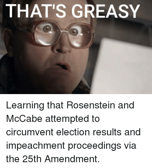 Greasy, Election, and Via: THAT'S GREASY