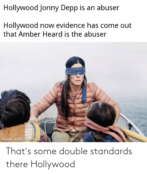 hollywood: That's some double standards there Hollywood