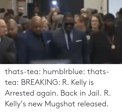 R. Kelly: thats-tea: humblrblue:  thats-tea:  BREAKING: R. Kelly is Arrested again. Back in Jail.   R. Kelly's new Mugshot released.