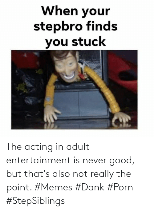 adult: The acting in adult entertainment is never good, but that's also not really the point. #Memes #Dank #Porn #StepSiblings