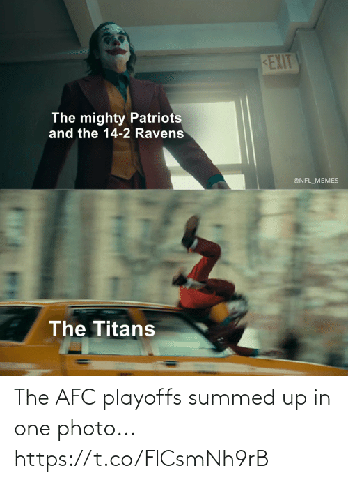 Summed Up: The AFC playoffs summed up in one photo... https://t.co/FlCsmNh9rB