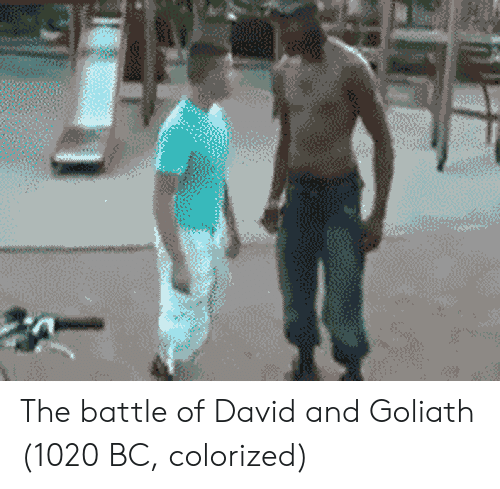 goliath: The battle of David and Goliath (1020 BC, colorized)