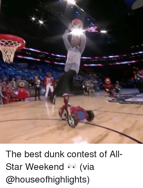 all star weekend: The best dunk contest of All-Star Weekend 👀 (via @houseofhighlights)
