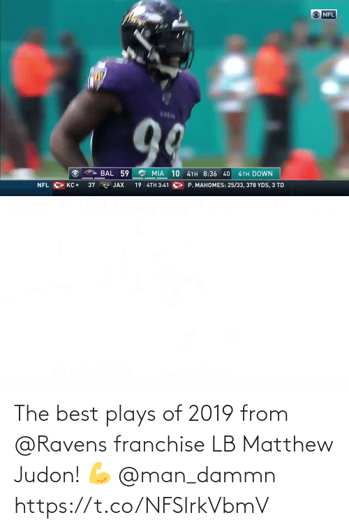 Plays: The best plays of 2019 from @Ravens franchise LB Matthew Judon! 💪 @man_dammn https://t.co/NFSIrkVbmV