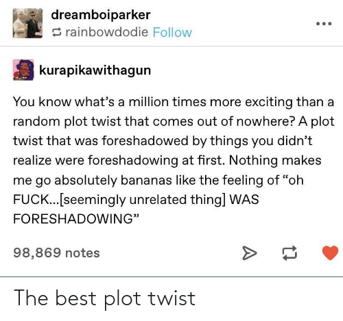 the best: The best plot twist