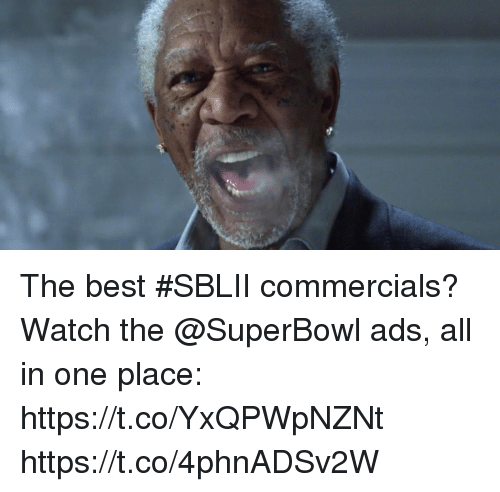 Memes, Best, and Superbowl: The best #SBLII commercials?  Watch the @SuperBowl ads, all in one place: https://t.co/YxQPWpNZNt https://t.co/4phnADSv2W