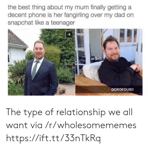 Dad, Phone, and Snapchat: the best thing about my mum finally getting a  decent phone is her fangirling over my dad on  snapchat like a teenager  GORGEOUS!! The type of relationship we all want via /r/wholesomememes https://ift.tt/33nTkRq