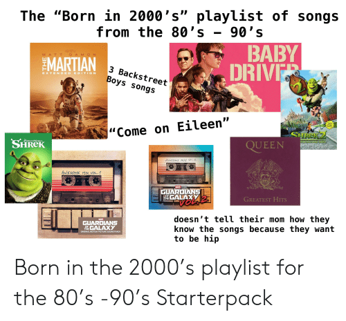 The Born in 2000's Playlist of Songs From the 80's - 90' S